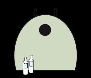 Sortierhilfe-Glas