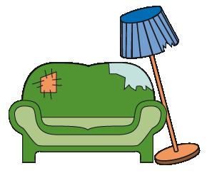 Sortierhilfe-Sofa